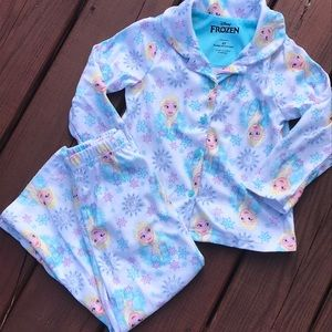Frozen two piece flannel pajamas